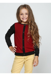 Джемпер «Ариана» черного цвета с бордовым