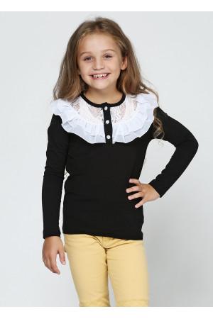 Джемпер «Фанні» чорного кольору з білим