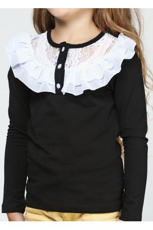 Джемпер «Фанни» черного цвета с белым
