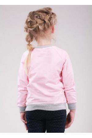 Джемпер «Кет» рожевого кольору з сірим