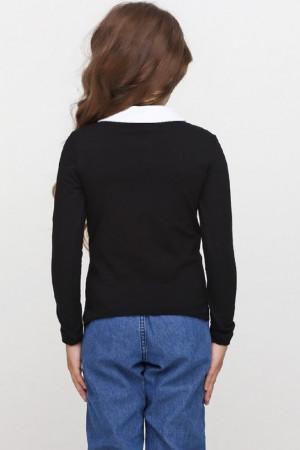 Джемпер «Файна» черного цвета с белым