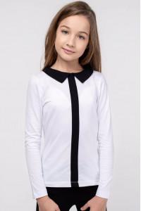 Кофта «Матильда» белого цвета с черным