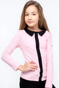Кофта «Матильда» розового цвета с черным