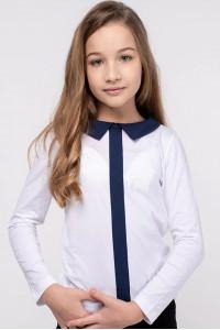 Кофта «Матильда» белого цвета с синим