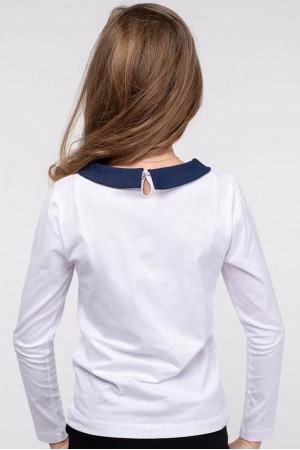 Кофта «Матильда» білого кольору з синім