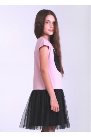 Платье «Блэки» пудрового цвета