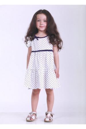 Сукня «Мадлен» білого кольору з фіолетовим