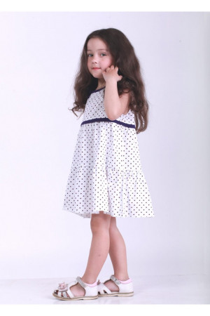 Платье «Мадлен» белого цвета с фиолетовым