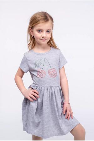 Платье «Вишенька» серого цвета