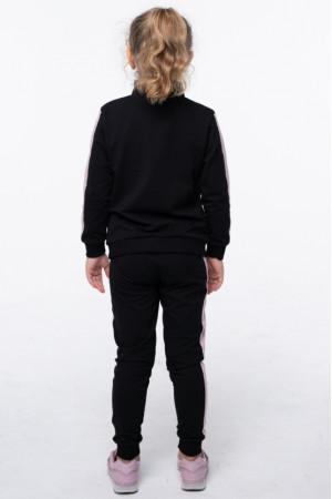Спортивный костюм «Валерия» черного цвета