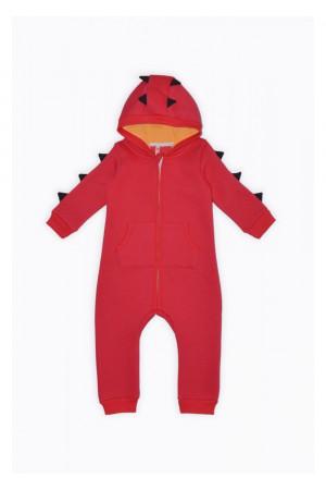 Комбінезон «Динозаврик» червоного кольору