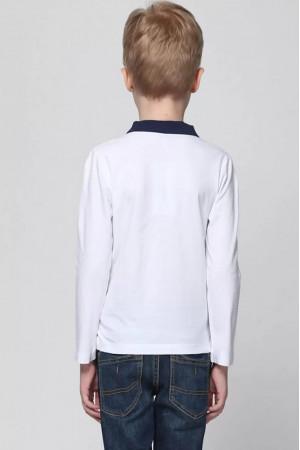 Кофта «Стив» белого цвета с синим