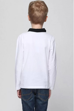 Кофта «Стив» белого цвета с черным