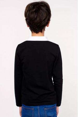 Кофта «Влад» черного цвета с белым