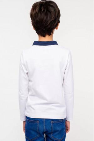 Кофта «Влад» белого цвета с синим
