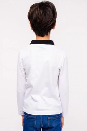 Кофта «Влад» белого цвета с черным
