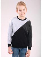 Джемпер «Марк» черного цвета с серым