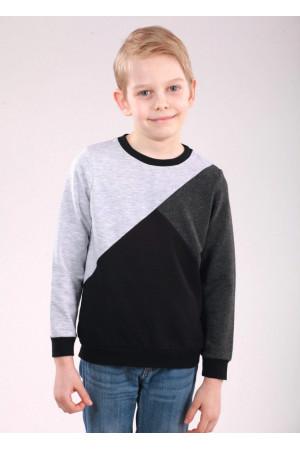 Джемпер «Марк» чорного кольору з сірим