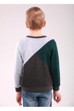 Джемпер «Марк» сірого кольору із зеленим