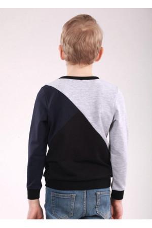Джемпер «Марк» чорного кольору з синім