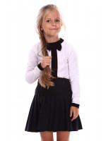 Джемпер «Аліса» білого кольору з чорним