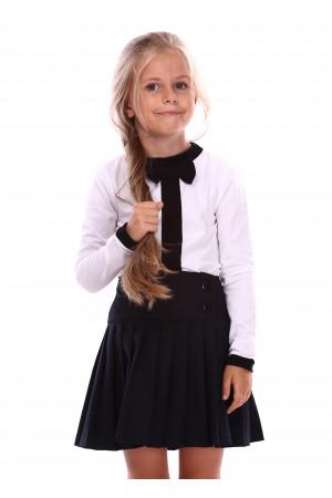 Джемпер «Алиса» белого цвета с черным