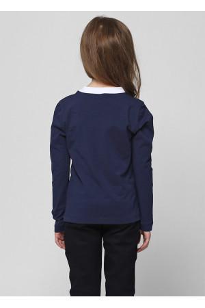 Джемпер «Аліса» синього кольору з білим