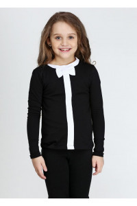 Джемпер «Алиса» черного цвета с белым