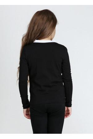 Джемпер «Аліса» чорного кольору з білим