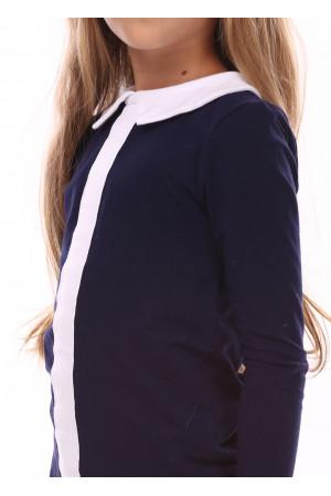 Джемпер «Тантам» синего цвета с белым