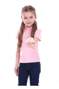 Футболка «Найс» розового цвета