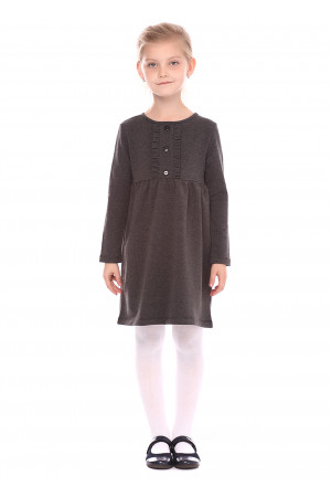 Платье «Канатка» серого цвета