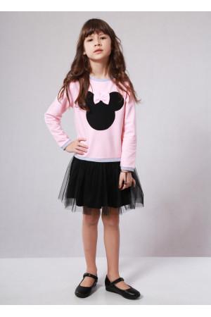 Сукня «Мінні» рожевого кольору з чорним