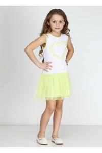 Платье «Дэйси» салатового цвета