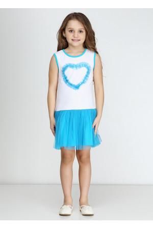 Платье «Дэйси» голубого цвета