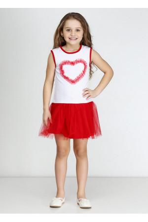 Платье «Дэйси» красного цвета