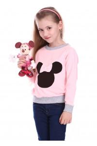 Джемпер «Минни» розового цвета с серым