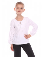 Блуза «Виктория» белого цвета
