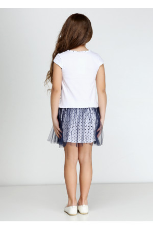 Сарафан «Минни фешн» белого цвета с синим