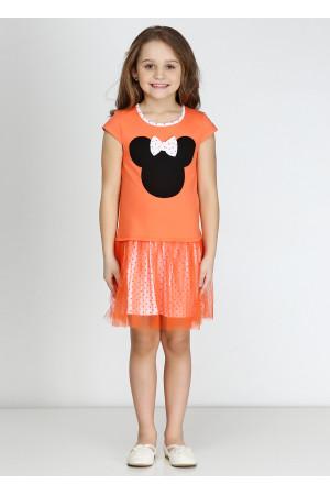 Сарафан «Минни фешн» оранжевого цвета