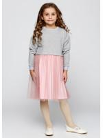 Сукня «Клайсі» сірого кольору з рожевим