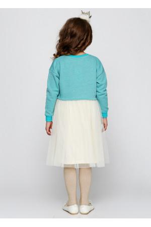 Плаття «Клайсі» блакитного кольору з молочним