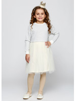Платье «Клайси» серого цвета с молочным