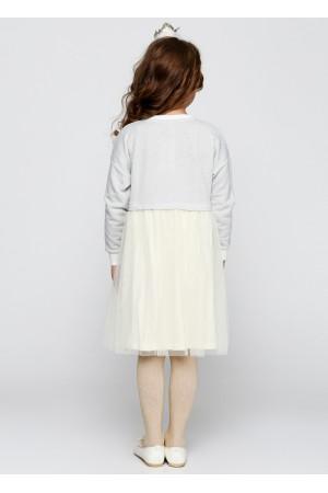 Сукня «Клайсі» сірого кольору з молочним