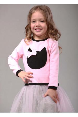 Сукня «Кет» рожевого кольору з сірим