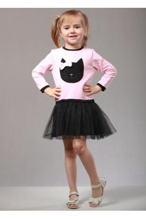 Сукня «Кет» рожевого кольору з чорним