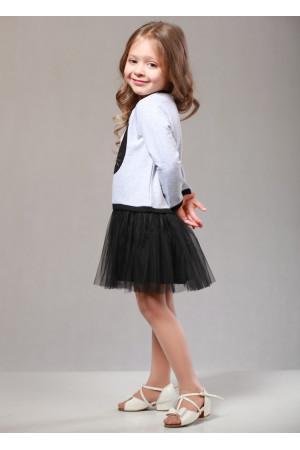 Сукня «Кет» сірого кольору з чорним