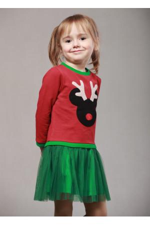 Сукня «Діпсі» бордового кольору із зеленим