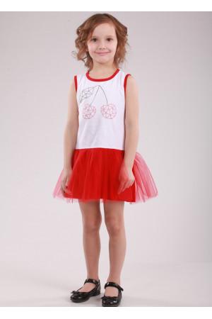 Сукня «Вишеньки» червоного кольору