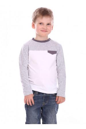 Джемпер «Антон» білого кольору з сірим